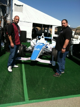 RGM's Matt and Chris with race car
